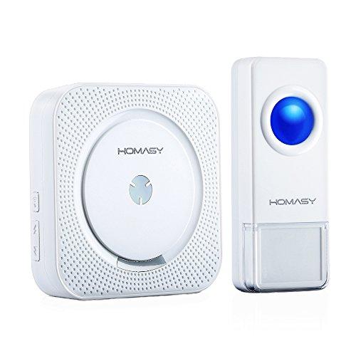 VicTsing Homasy Funk Tragbare Türklingel Kit Wireless Doorbell Klingel Wasserdicht mit 1 Empfänger 1 Sender, 52 Klingeltöne, 300m Reichweite