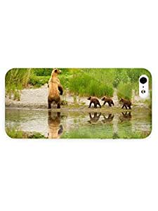 3d Full Wrap Case for iPhone 6 4.7 Animal Brown Bear With Cubs