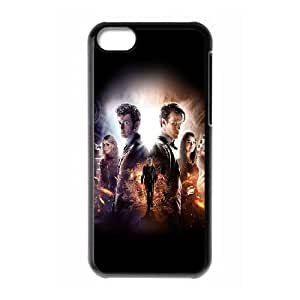 iPhone 5c Cell Phone Case Black Doctor Who 50Th Poster Film Face I6Q2QE
