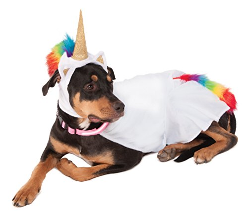 Cat Unicorn Costume (Rubies Costume Unicorn Cape with Hood and Light-Up Collar Pet Costume, XXX-Large)