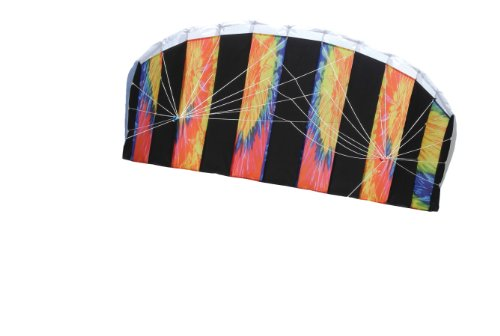 In the Breeze Tie Dye 62 Inch Sport Kite - Dual Line Stunt Parafoil - Includes Braided Kite Line and Bag - Easy to Fly from In the Breeze