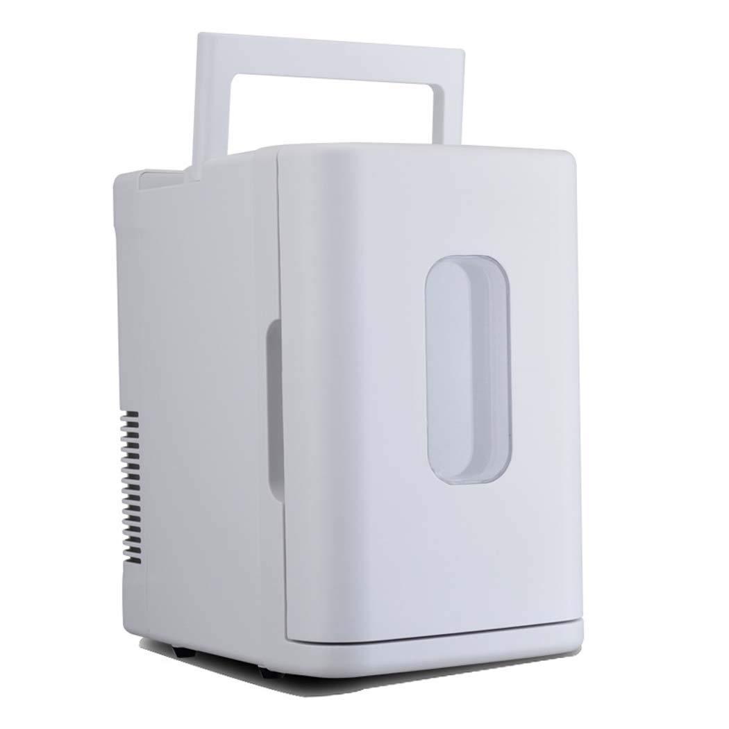 車の冷蔵庫ミニ、ミニ冷蔵庫ミニ温暖冷蔵、ホームキャンプ用冷蔵庫 (色 : 白) B07G6MJBLP 白 白