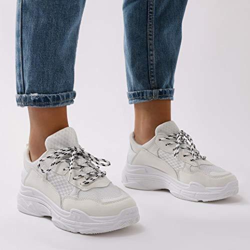 Zapatillas Mujer Desire Chunky Public Fiyah Blanco Deportivas wqHZw1nf