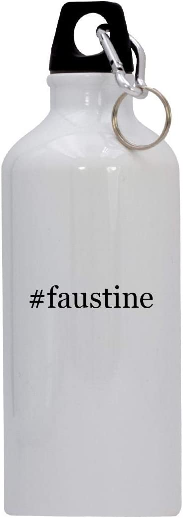 #faustine - 20oz Hashtag Stainless Steel Water Bottle with Carabiner, White 419qphlCd7L