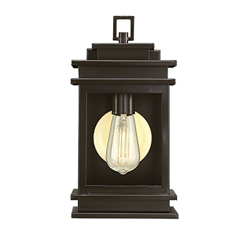 (Savoy House 5-400-13 Reading - One Light Outdoor Wall Lantern, English Bronze Finish with Clear)