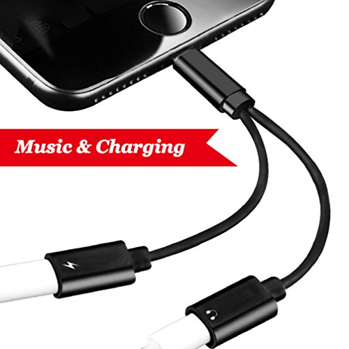 Lightning Jack Adapter for iPhone 7 / Plus iPhone 8/8Plus/iPhone X 10 adapter,Lightning to DualLightning headphone Adapter.with Call & Audio & Charge Function.Compatible ,Support IOS 10.3 or IOS11