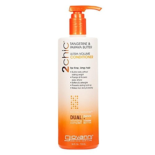 (Giovanni 2chic Collection Ultra-Volume Conditioner 24 fl.oz. Tangerine & Papaya Butter Ulta-Volume Hair Care 24 fl. oz. (a))