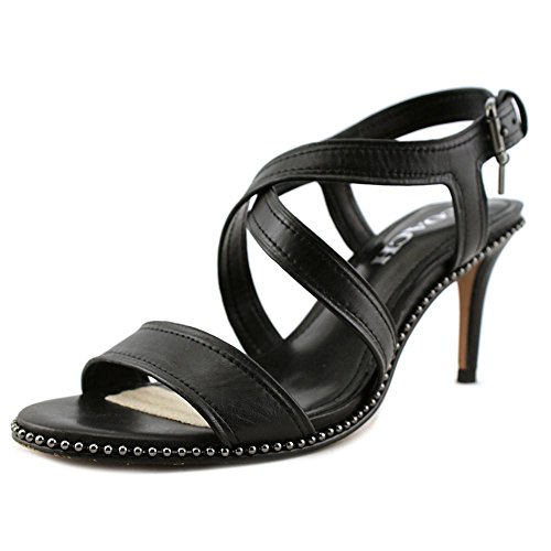 Coach Womens Wendi Open Toe Casual Strappy Sandals, Black, Size 6.5