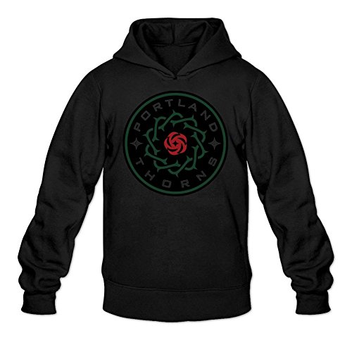 Libling Men's Portland Thorns FC NWSL Logo Hoodie Sweatshirt Large Black