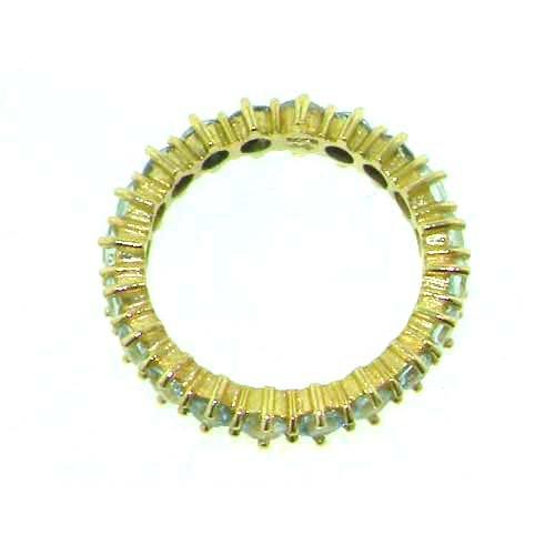 Bague pour Femme en Or jaune 375/1000 sertie d' Aigue-marine - Taille - Tailles 50 à 64 disponibles