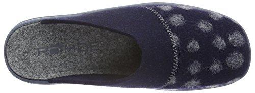 RohdeVaasa-D - Pantuflas cálidas con forro Mujer Azul - azul (Ocean 56)