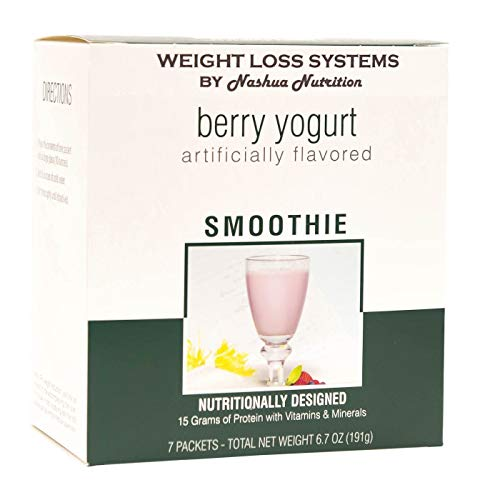 Weight Loss Systems Smoothie - Berry Yogurt - High Protein 15g - Low Carb - 24 Vitamins and Minerals - (7/Box)