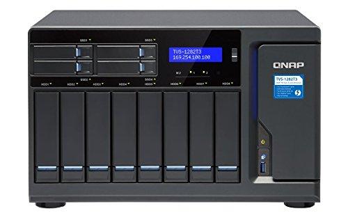 Qnap TVS-1282T3-i5-16G-US Ultra-High Speed 12 bay (8+4) Thunderbolt 3 NAS/iSCSI IP-SAN. Intel 7th Gen Kaby Lake Core i5 3.4GHz Quad Core, 16GB RAM, Thunderbolt3 port x 4 and 10Gbase-T x 2 by QNAP (Image #4)