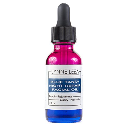 Cheap Blue Tansy Night Repair Facial Essential Sleeping Oil – Calms, Hydrates, Restores Skin – Premium Anti-Aging Blend, Infused with Camellia, Jojoba and Vitamin E, Coconut Oils Lynne Leea