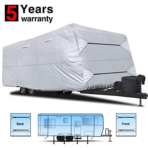 RVMasking 150D Travel Trailer RV Cover 22'-24' L with Tongue