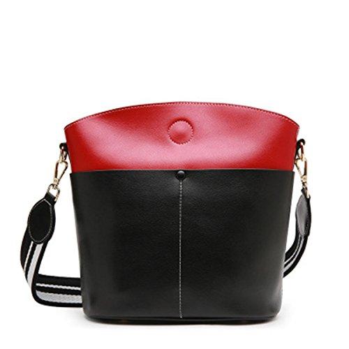 Femmes Shopping Sacs SANSJI Sacs À Sacs Femmes Noir rouge Cuir Sac Main En Fourre Embrayages Tout Épaule Sac Mode wwqzHAxgXf
