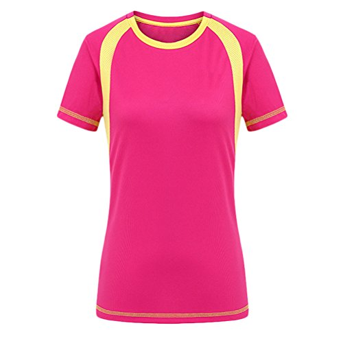 Zhuhaitf Multi-color Premium Women Quick-Dry Sports T-Shirt 3192 Rose Red