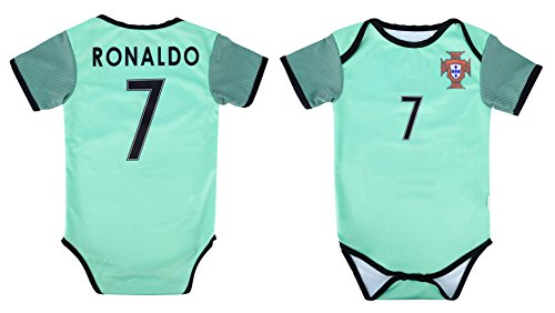 World Cup Baby Cristiano Ronaldo #7 Portugal Soccer Jersey Baby Infant and Toddler Onesie Romper Premium Quality