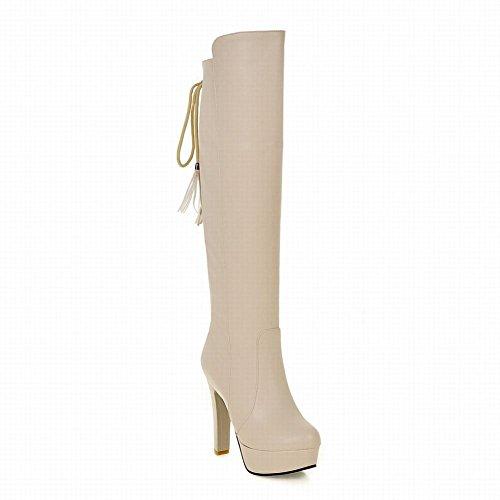 Sexy Tacco Stivali Alto Al Ginocchio Con Womens Mee E Alti Albicocca Shoes x8EwnzqXtZ