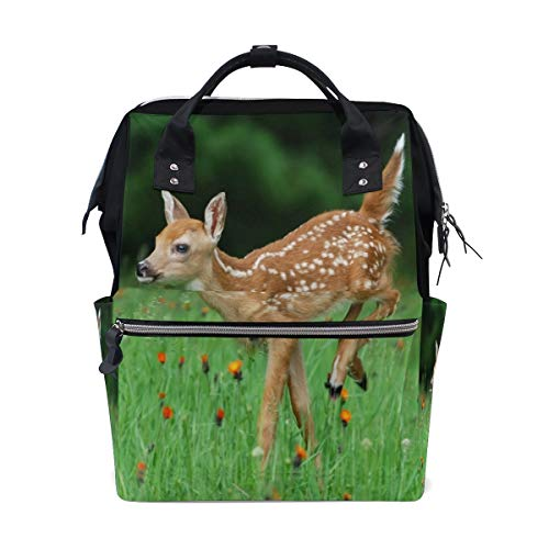 Diaper Bags White Tailed Deer Fashion Mummy Backpack Multi Functions Large Capacity Nappy Bag Nursing Bag for Baby Care for Traveling