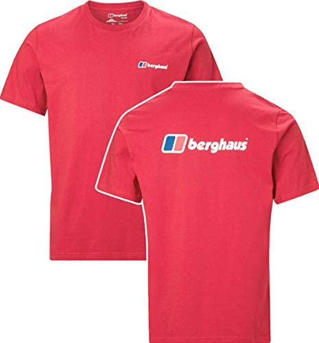 Berghaus Front /& Back Logo Mens Short Sleeve Outdoor T-Shirt Tee Black