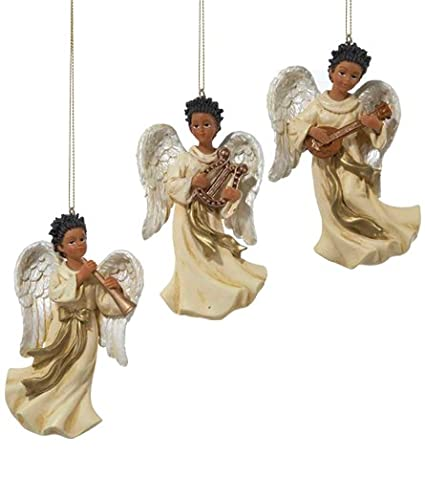 Black Angels Christmas Tree Ornaments Amazon Co Uk Kitchen Home