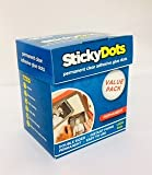 8 x U-Glue Sticky Dots Permanent Extra Strength Adhesive Value Pack 1600 x 10mm