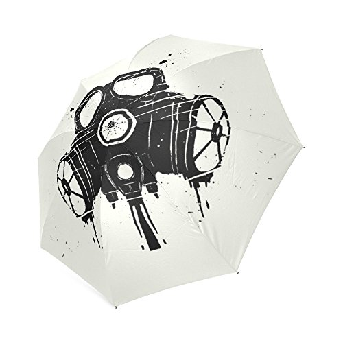 Beautytool Gas Mask Custom Foldable Rain Umbrella Floding Travel Umbrella
