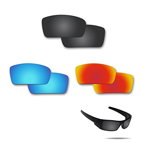 Fiskr Anti-saltwater Polarized Replacement Lenses for Oakley Gascan Sunglasses 3 Pair - Glasses Gascan