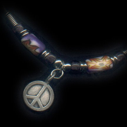 Peace Necklace with Assorted Claymatic Beads