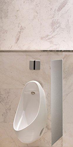 Schamwand, WC Urinal Trennwand, Bidet Trennwand Toiletten Trennwand Alu Brushed Var.A Schön und Wieder