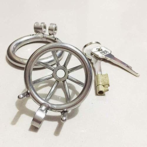 Chástí^^ty Device, P?n?s Lock Men Stainless Steel C?ck Ring Metal Device T-Shirt Belt (40mm)