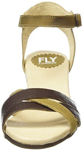 FLY London Saiz676fly - Sandalias de tacón Mujer Ocre / Marrón