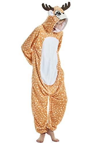 Sleepwear Regalo Animale BienBien Uomo Adulto Natale Ragazza Kigurumi Monopezzi Anime Pigiama Intera Costume Halloween Tuta Compleanno Jumpsuit Donna Unicorno di Unisex Festa Flanella Xiaolu Cosplay wZzUHpRqw