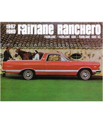 (1967 FORD FAIRLANE RANCHERO Sales Brochure Book)