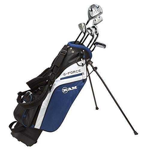 Ram Golf Junior G-Force Boys Right Hand Golf Clubs Set with Bag
