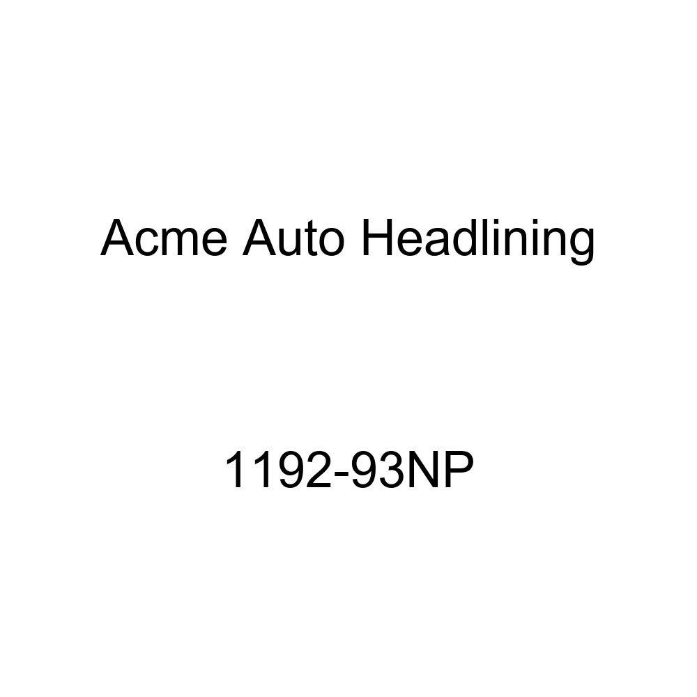 Acme Auto Headlining 1192-93NP Pure White Replacement Headliner 1959-60 Buick Invicta /& Lesabre 4 Door Sedan 7 Bows