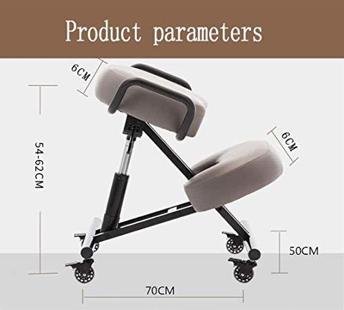 Stol knådning, ergonomisk dator vacker höftlyft kontor svängbar student knäböjning hållning, bär 150 kg, grå