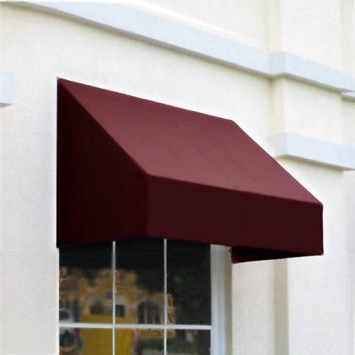 UPC 731478430159, Awntech 5-Feet New Yorker Window/Entry Awning, 44-Inch Height by 36-Inch Diameter, Burgundy