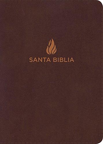 RVR 1960 Biblia Letra Grande Tamaño Manual marrón, piel fabricada (Spanish Edition)