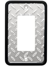 Franklin Brass 135860 Diamond Plate Single Decorator Wall Plate/Switch Plate/Cover