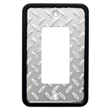 Franklin Brass 135860 Diamond Plate Single Decorator Wall Plate / Switch Plate / Cover