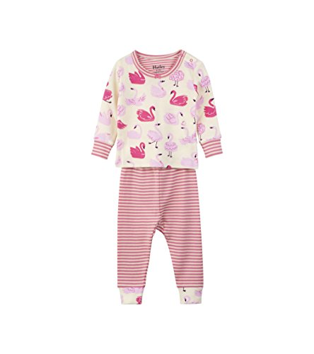 - Hatley Baby Girls Organic Cotton Long Sleeve Mini Pajama Sets, Dancing Swans, 6-9 Months