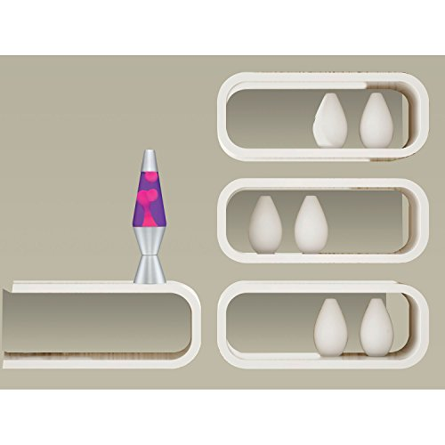 047162021214 - Lava Lite 2121 14.5-Inch Classic Silver-Based Lava Lamp, Pink Wax/Purple Liquid carousel main 1