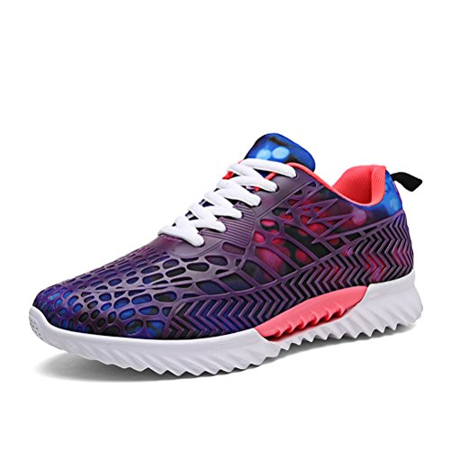 Dannto Men Women Lightweight Walking Athletic Running Shoes Comfortable Fitness Gym Trainers Fashion Sneakers(Purple,39) by Dannto