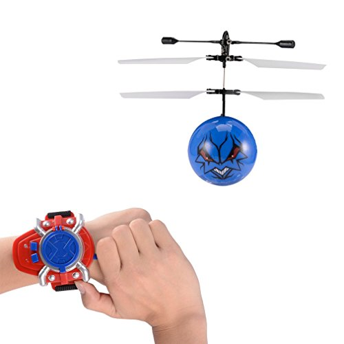 Music RC Toy, LESHP RC Mini Flying Ball, RC infrared Induction Helicopter Ball with LED Shinning Flashing Lighting Built in Disco Music for Kids, Teenagers