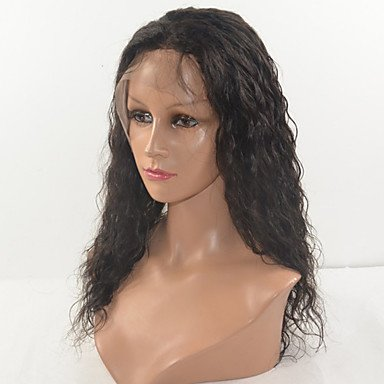 gzhuang peruano pelo Kinky Curl pelo peluca Lace Front Peluca de pelo sintético para las mujeres
