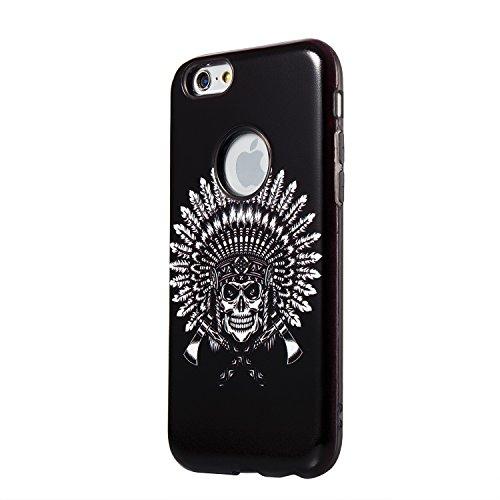 "Hülle iPhone 6 / 6s , LH Federskelett Combo TPU Weich Muschel Tasche Schutzhülle Silikon Handyhülle Schale Cover Case Gehäuse für Apple iPhone 6 / 6s 4.7"""