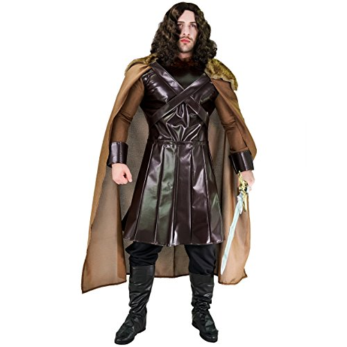 flatwhite Northern King Costume for Men ,Brown,One Size]()