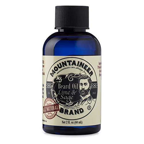 Beard Oil by Mountaineer Brand (2oz) | Premium 100% Natural Beard Conditioner (Lime & Sage)